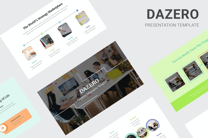 Thumbnail for Dazero - Timeline Infographic Google Slides