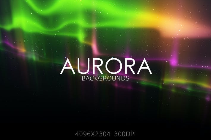 Thumbnail for Aurora Lights Backgrounds
