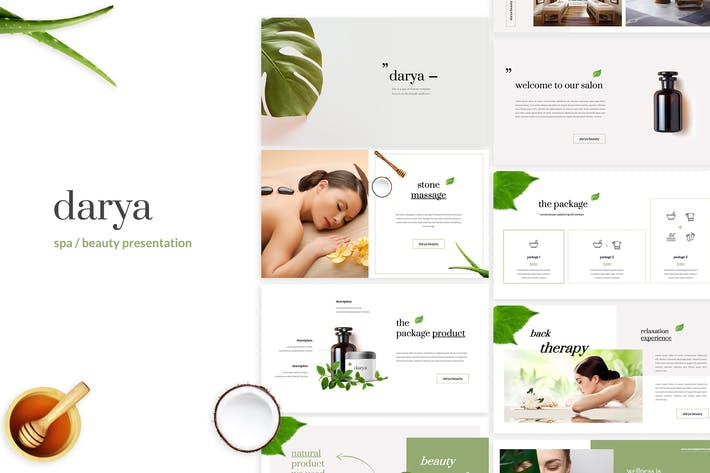 Darya - Спа/Красота Шаблон Keynote
