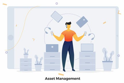 Asset Management CRM Illustration