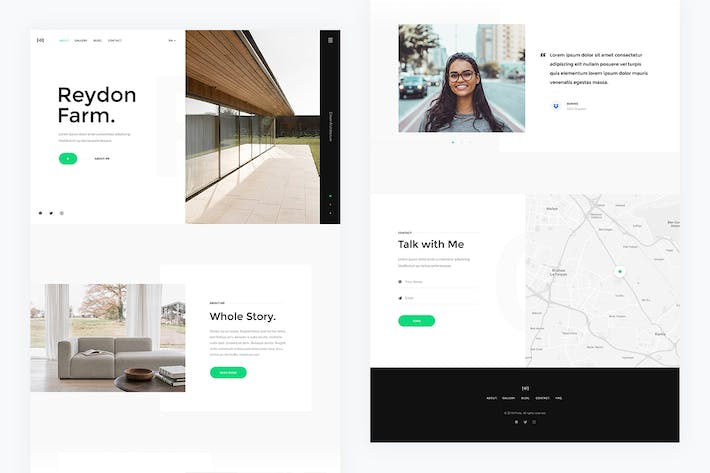 Thumbnail for Photy — Photography Landing Page PSD Template