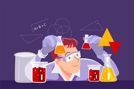 Scientists are studying at the laboratory