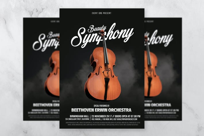 Thumbnail for Classic Music Event Flyer Template