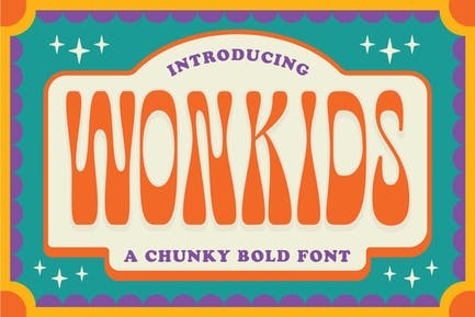 Fuente Wonkids Bold & Chunky