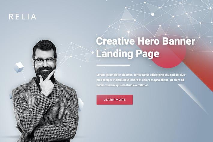 Thumbnail for Relia - Landing Page Hero Banner
