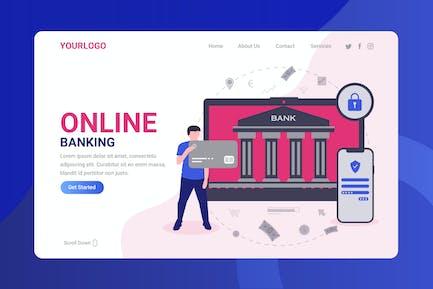 Online Banking - Landing Page