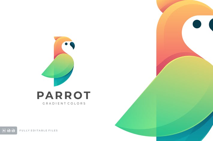 Thumbnail for Parrot Gradient Colorful Logo