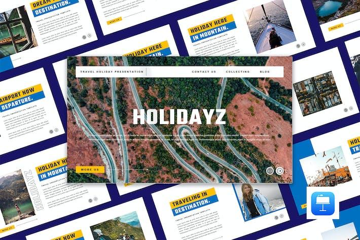 HOLIDAYZ - Путешествия Праздник Keynote вой шаблон