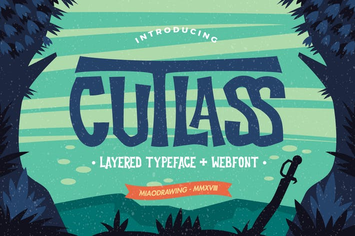Thumbnail for Cutlass Typeface - Lite