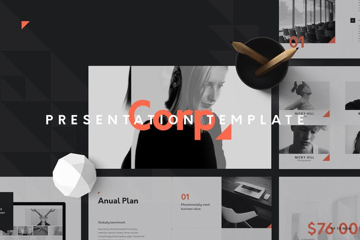 Thumbnail for Corp Keynote Presentation Template