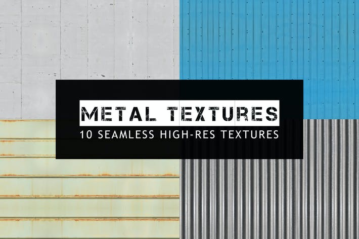 Thumbnail for 10 Seamless Metal Textures