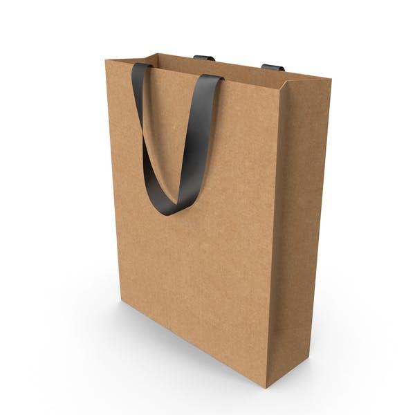 Ремесленная упаковочная сумка с черными ручками