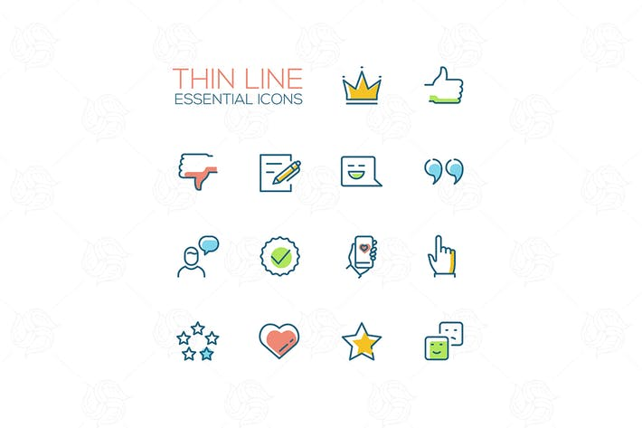 Thumbnail for Social Network Signs - line deisign style icons
