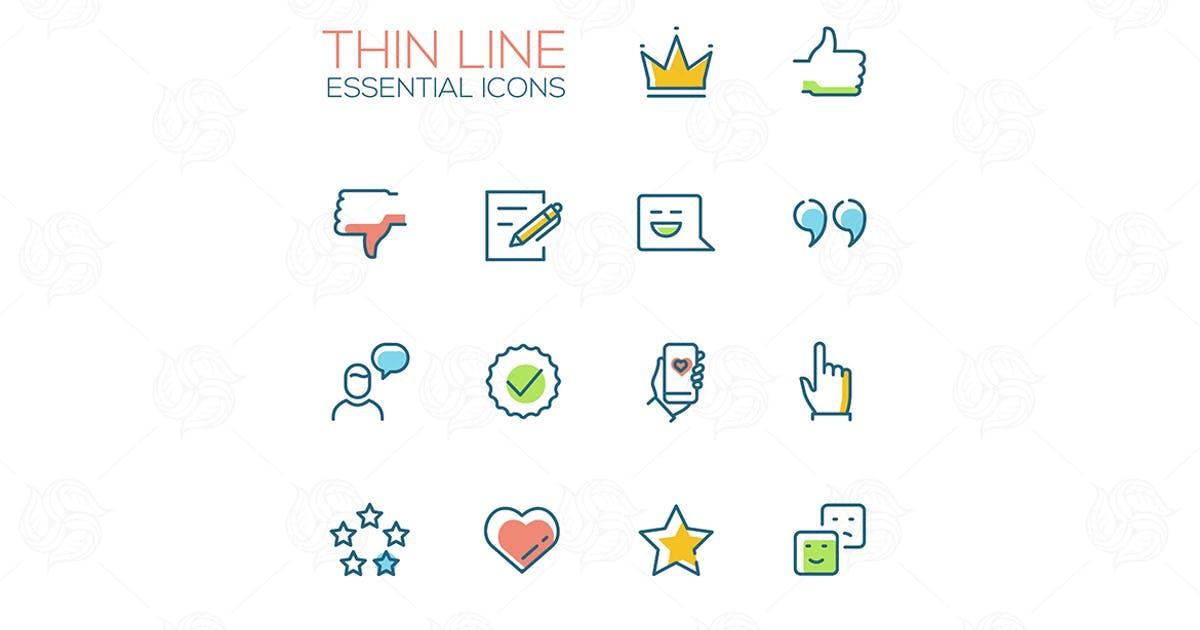 Download Social Network Signs - line deisign style icons by BoykoPictures