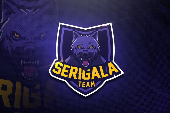 Thumbnail for Serigala Team - Mascot & Esport Logo