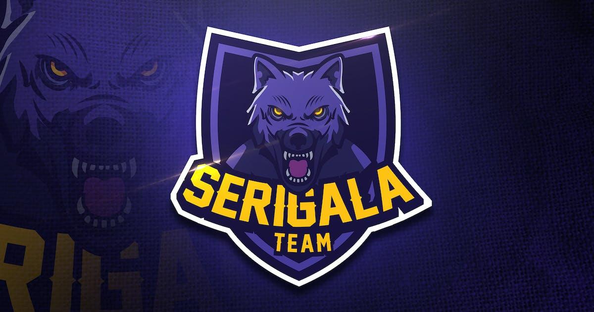 Download Serigala Team - Mascot & Esport Logo by aqrstudio