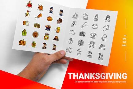 День благодарения - Иконки