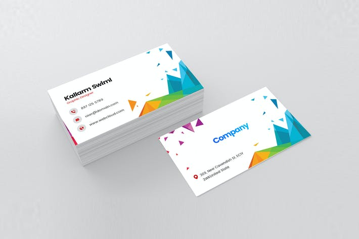 Thumbnail for Modern Visiting Card For Graphic Designer