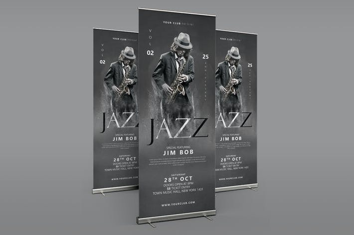 Jazz Roll Up Banner
