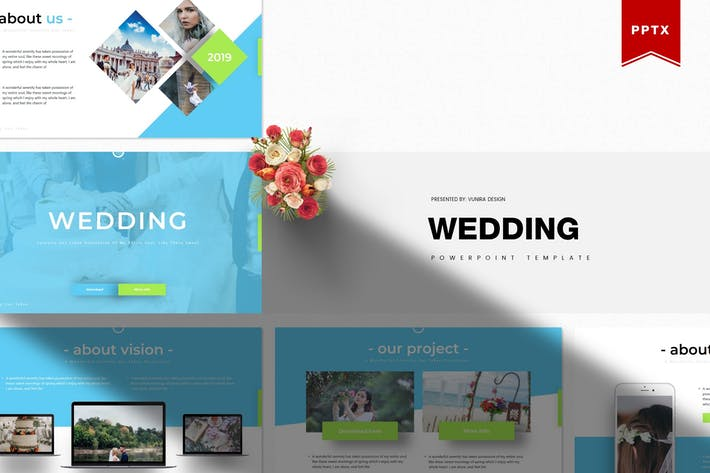 Thumbnail for Wedding | Powerpoint Template