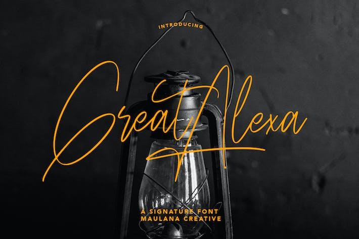 Great Alexa Signature Font