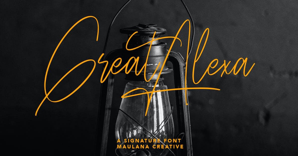 Download Great Alexa Signature Font by maulanacreative