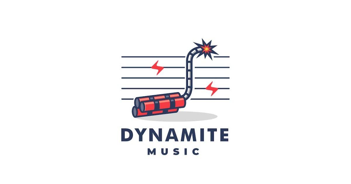 Download Dynamite and Music Line Art Style Logo by ivan_artnivora