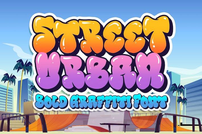 Thumbnail for Street Urban Graffiti Font