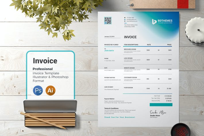 Thumbnail for Business Invoice Template 03