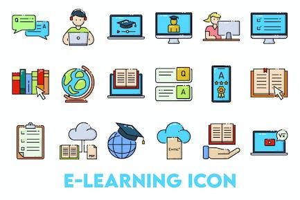 Icono de Aprendizaje en línea