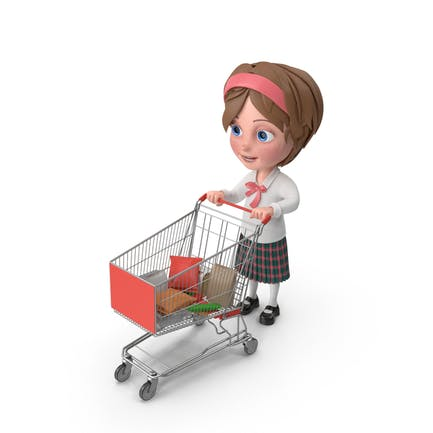 Cartoon Girl Meghan Shopping