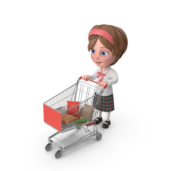 Thumbnail for Cartoon Girl Meghan Shopping