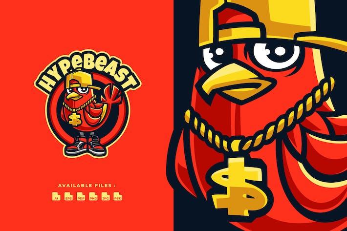 Thumbnail for Bird Hypebeast Cartoon Logo