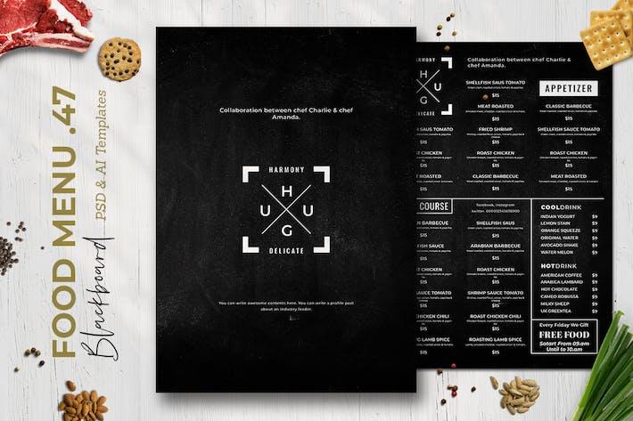 Thumbnail for Tableau noir Menu alimentaire. 47