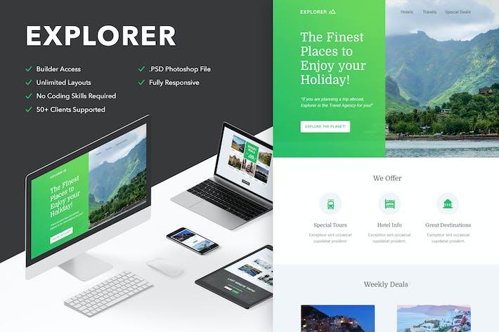 Thumbnail for Explorer - Responsive Email + Themebuilder Access