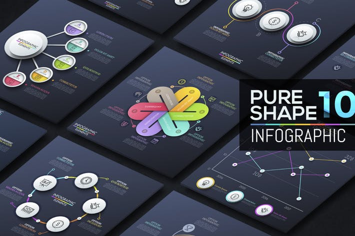 Thumbnail for Pure Shape Infographic. Part 10
