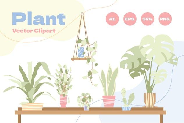 House Plant Vector Clip Art 2
