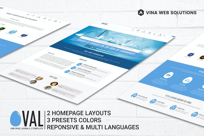 Thumbnail for Vina Oval :: Responsive Joomla 3 One Page Template
