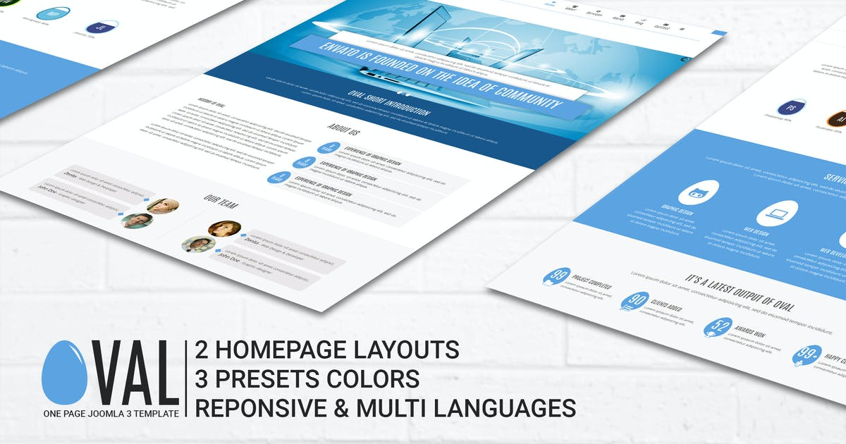 Download Vina Oval :: Responsive Joomla 3 One Page Template by VinaWebSolutions