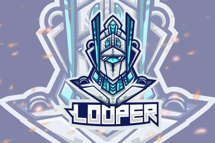 Thumbnail for Looper Robot Esport Gaming Logo