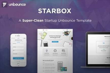 StarBox - Запуск Unbounce целевой страницы