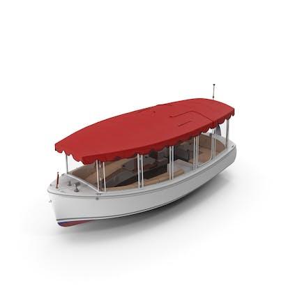 Sportboot mit Canvas-Gehäusen