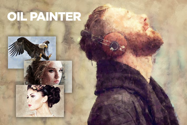 Thumbnail for Oil Painter CS4+ Photoshop Action