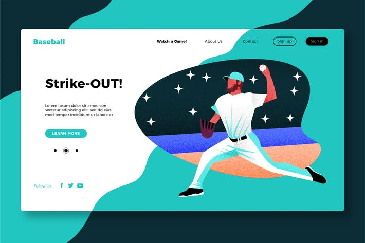 Thumbnail for Baseball - Banner & Landing Page