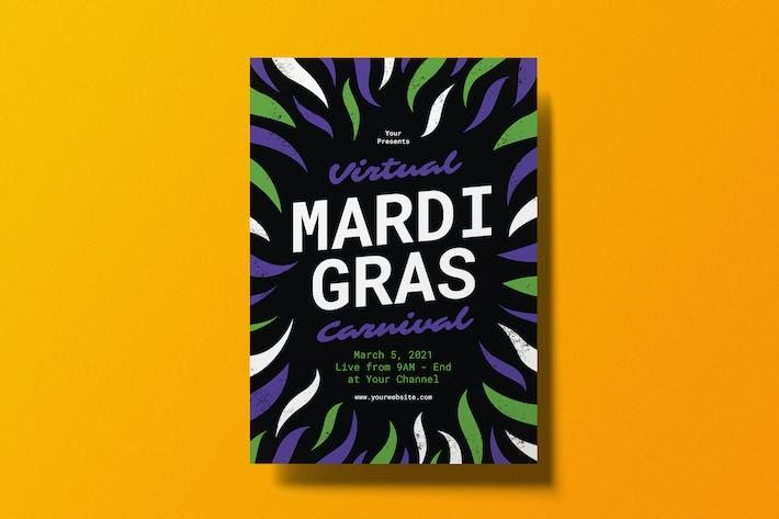 Virtual Mardi Gras Flyer