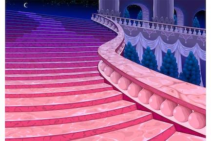 Palace Treppen um Mitternacht