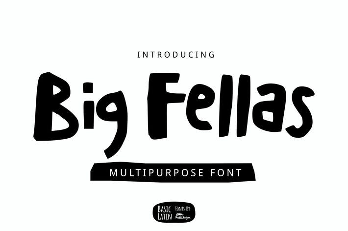 Thumbnail for Big Fellas Cute Font