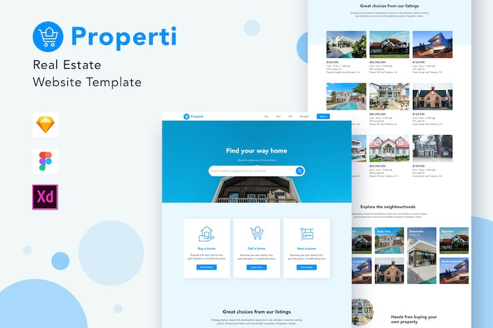 Thumbnail for Properti - Real Estate Website Template