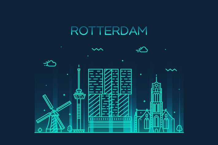 Thumbnail for Rotterdam skyline, Netherlands