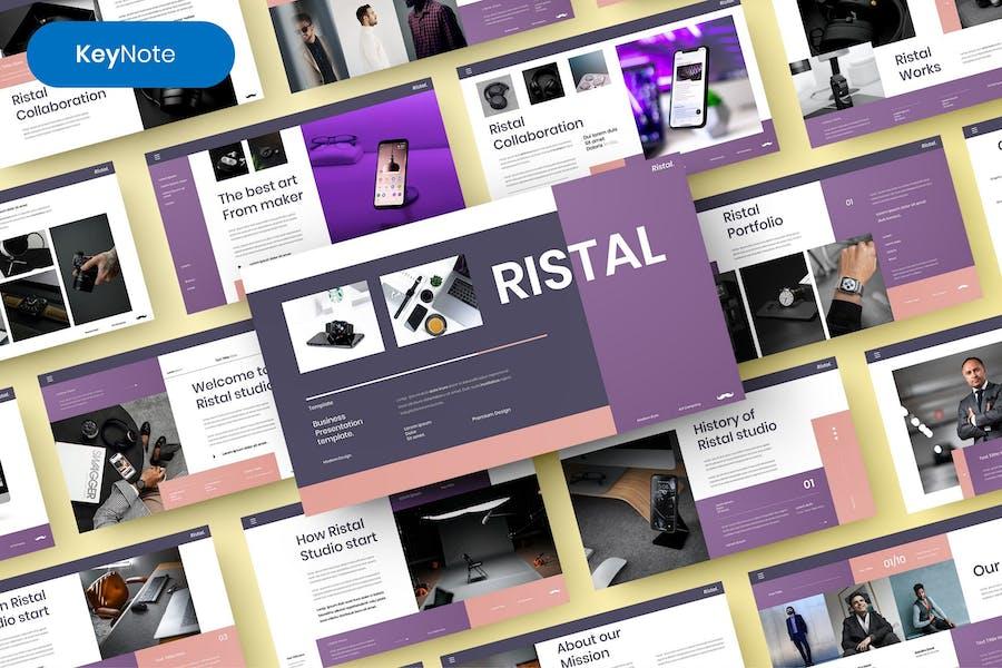 Ristal – Business Keynote Template